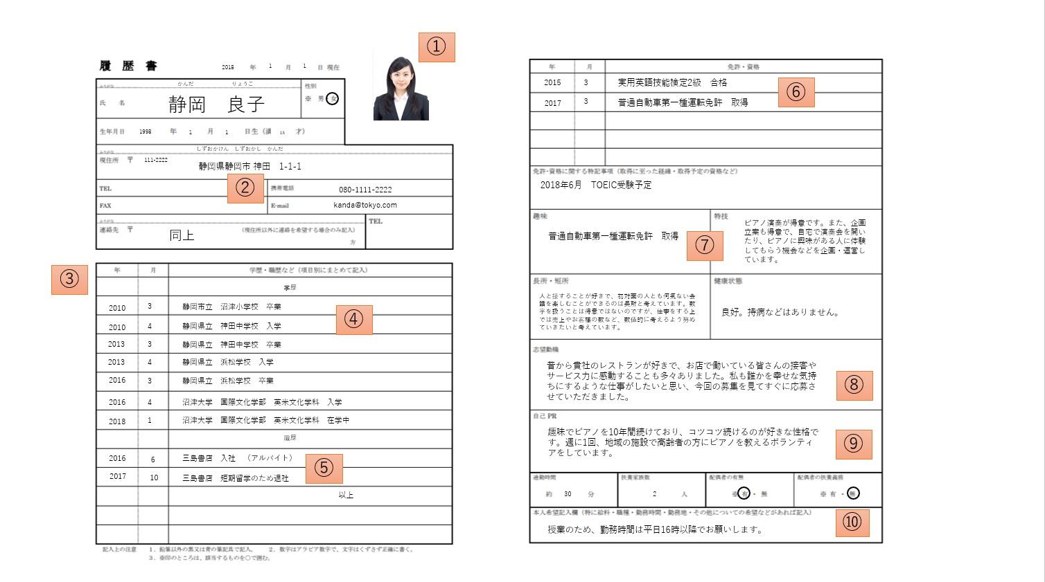 「バイト履歴書」の書き方完全マニュアル|DOMO+(ドーモ ...